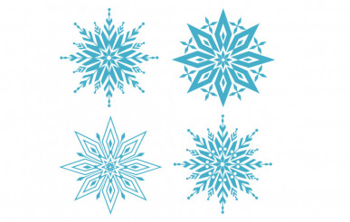 Six Shapes Snowflakes