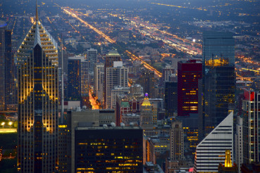 Skyline at Night Chicago