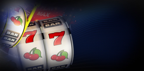 Casino Slot Gambling 3D Illustration Banner with Copy Space
