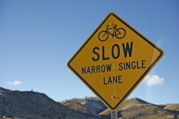 Slow Sign for Bikers