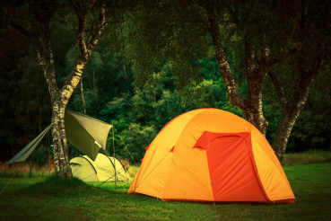 Small Orange Tent Camping