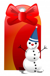 Snowman with Tag