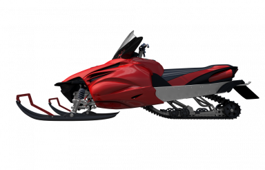 Snowmobile Side View PNG