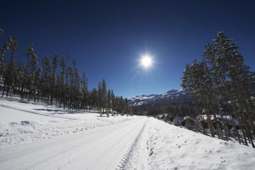 Snowy Breckenridge Road