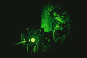 Soldier Night Vision Spotting