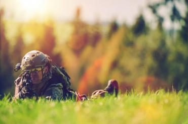Soldier Spotting Enemy