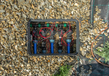 Solenoid Valves In Underground Irrigation System.