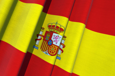 Spain Waving Flag 3D