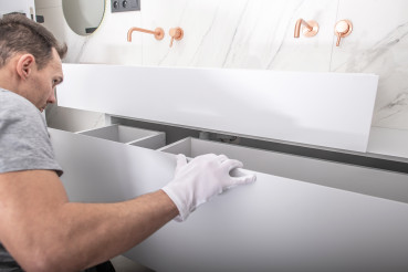 Specialist Finishing Bathroom Cabinets Assembly