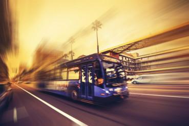 Speeding Bus Public Transport