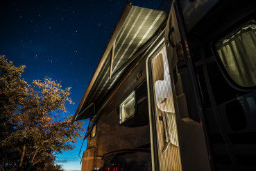 Starry Sky Over Camper RV