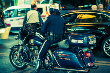 State Trooper on Motorcycle