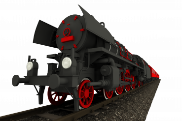 Steam Locomotive 3D Isolated Illustration