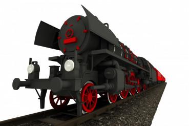 Steam Locomotive Isolated