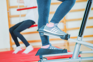 Stepper Workout Closeup