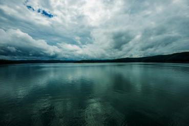Stormy Lake Scenery