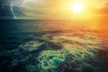 Stormy Sunny Ocean