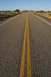 Straight Utah Highway