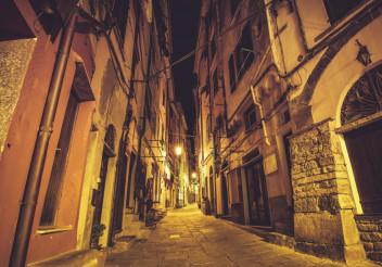 Streets of Portovenere Italy
