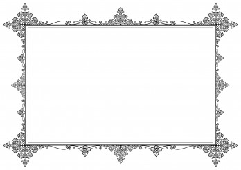 Stylish Horizontal Frame Ornament