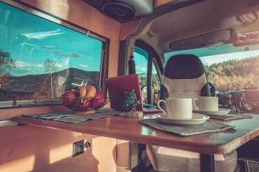 Stylish Self Made Camper Van Interior