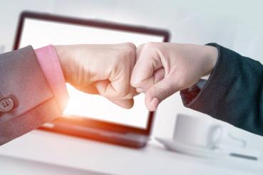 Successful Business Fist Bump