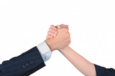 Successful Teamwork Gesture