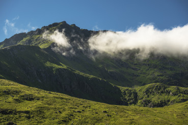 Summer Lofoten Mountains Scenery