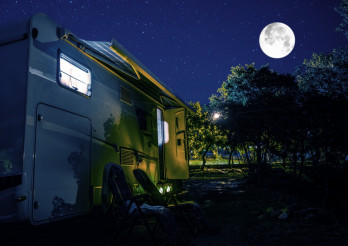 Summer Night RV Camping