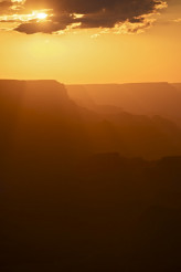 Summer Sunset Over Canyon