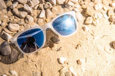 Sunglasses on Rocky Beach