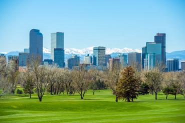 Sunny Denver Skyline