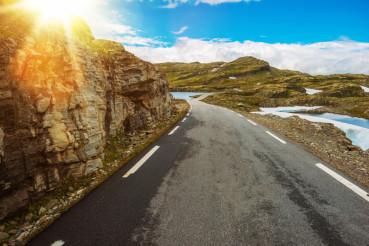 Sunny Scandinavian Road