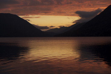 Sunset - Lake Crescent