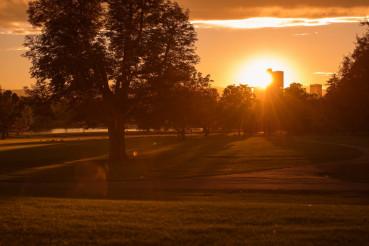 Sunset in Denver City Park