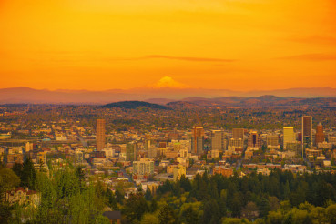 Sunset in Portland Oregon