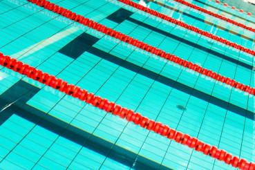 Swimming Pool Lanes Closeup