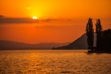 Swiss Lake Thun Sunset