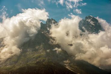Peak Of Jungfrau Mountian In Switzerland.