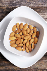 Tasty Almond in White Bowl