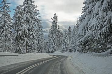 Tatra Mountain Snowy Road