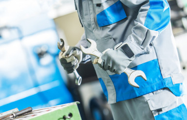 Technician Fixing Machinery
