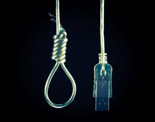 Technology Suicide Concept