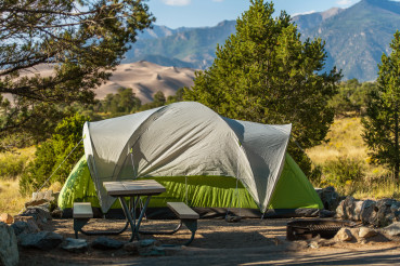 Tent Camping in Great Sand Dunes National Park Colorado