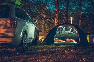 Tent Camping in the Forest