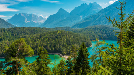 The Blindsee Lake in Tyrol