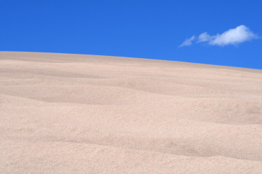 Scenic Desert Landscape with Blue Sky