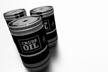 Three Crude Oil Barrels