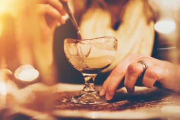 Tiramisu Dessert Eating