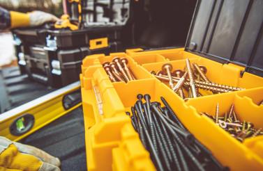 Tool Box Full of Wood Screws